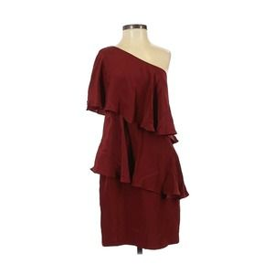ANNIE GRIFFIN ISz 2 I Silk One-Shoulder Mini Dress